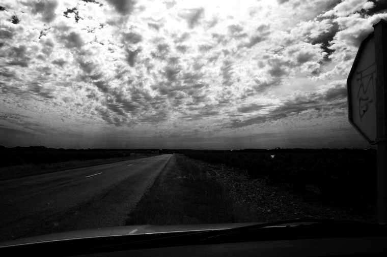© Road to Orange through windshield by Fritsch, 2008