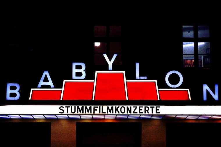 "Neon lights cinema ""Babylon"" Berlin 2009"